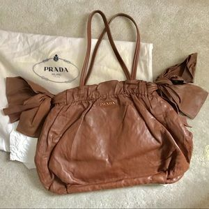 e8e46e6d64db Women Prada Brown Leather Shoulder Bag on Poshmark